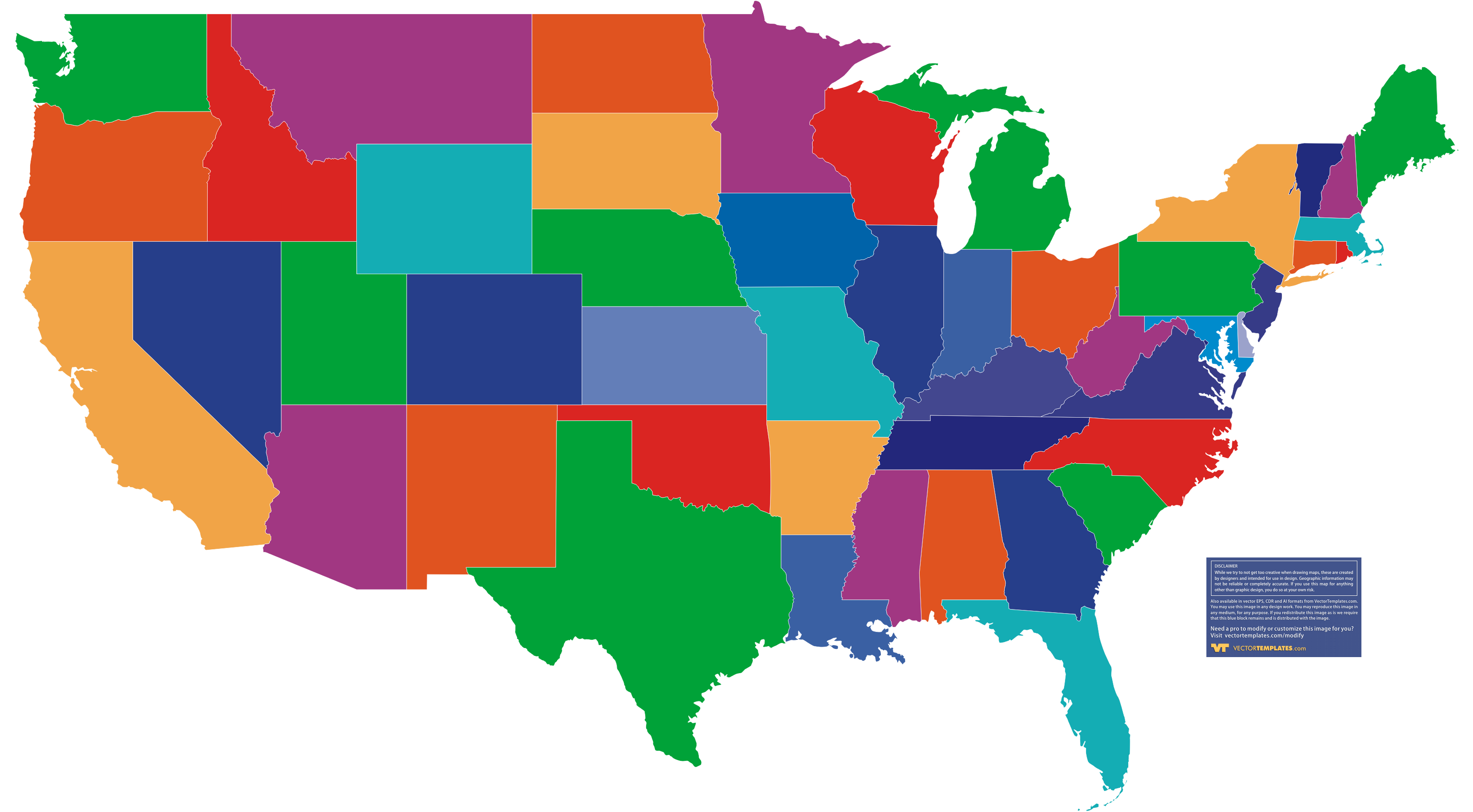 Business Setup Color In Map Of Usa